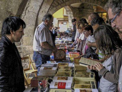 Aspecto de la primera edición del festival Liberisliber, en 2010, en Besalú.