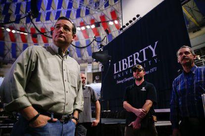 El senador Ted Cruz, este domingo
