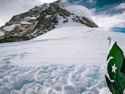 Lugar donde Sajid Sapdara enterró a su padre, Ali, en el K2, a 8.000 metros.