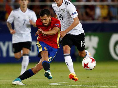 Ceballos, durante la final del Europeo sub-21 ante Alemania.