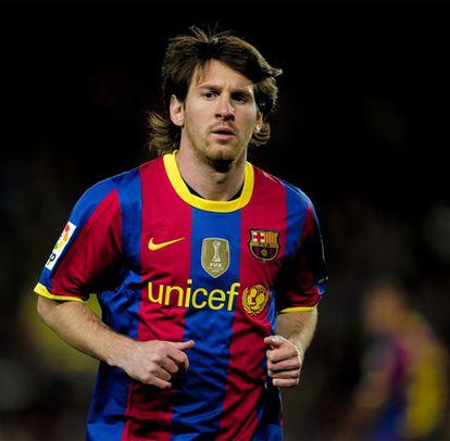 Leo Messi, en un partido del Barcelona.