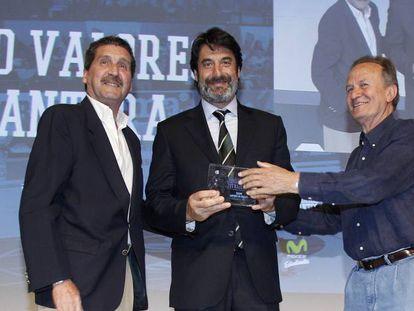Villacampa recibe el premio 'Valores de Cantera' de la Fundación Estudiantes.