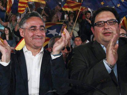 Francesc Gambús (derecha) con Ramon Tremosa.