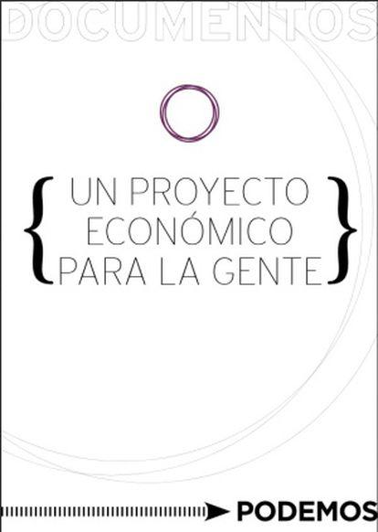 Primera página del documento programático de Podemos.