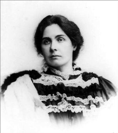 Constance Lloyd, fotografiada durante su estancia en Heidelberg en 1896, dos años antes de morir.