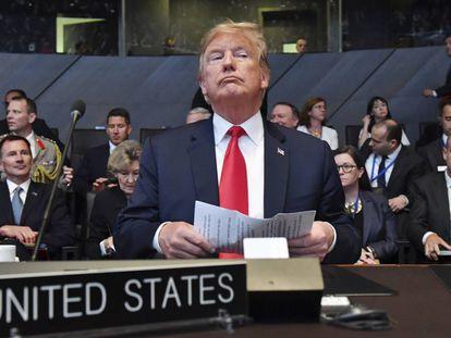 El presidente de EE UU, Donald Trump, en una imagen de archivo tomada durante la cumbre de la OTAN del pasado mes de julio.