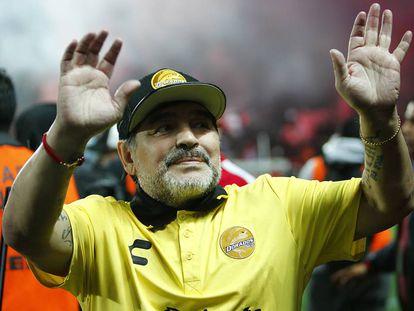 Maradona, tras un juego de Dorados.