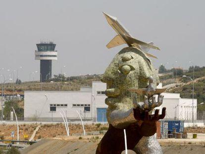 Acceso al aeropuerto de Castellón.