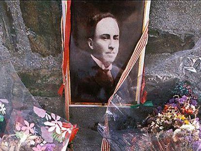 La tumba de Machado, en Colliure (Francia).