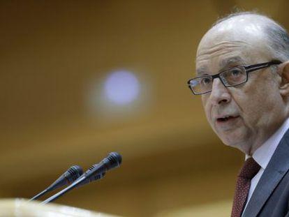 El Ministro de Hacienda y Administraciones Públicas, Cristóbal Montoro, esta semana en el Senado.