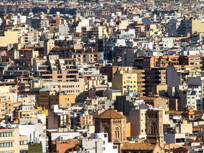 Vista aérea de Palma de Mallorca, este enero.