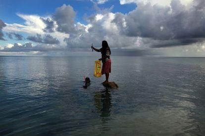 Kiribati es un archipiélago del Pacífico especialmente vulnerable al calentamiento global.
