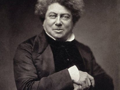 Alejandro Dumas, retratado en 1855.
