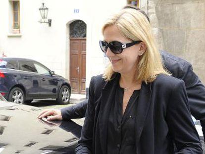 La Infanta llega a su casa de Ginebra, el 12 de junio.