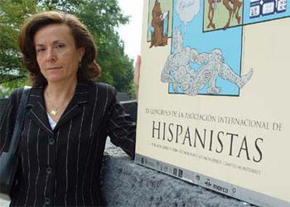 Aurora Egido, durante el XV Congreso de Hispanistas, que hoy se clausura en Monterrey.