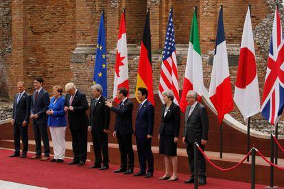 Los líderes del G7.