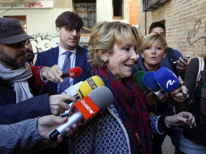 Esperanza Aguirre, el pasado día 11 en Valencia.