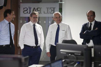 Jan Martínez Ahrens, Juan Luis Cebrián, Antonio Caño y Luis Prados