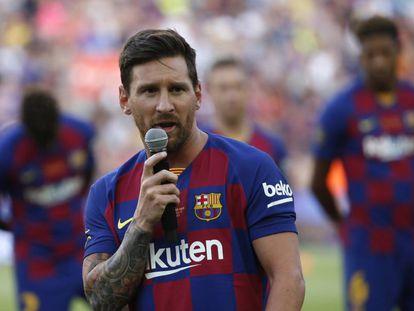 Messi, en el Gamper.