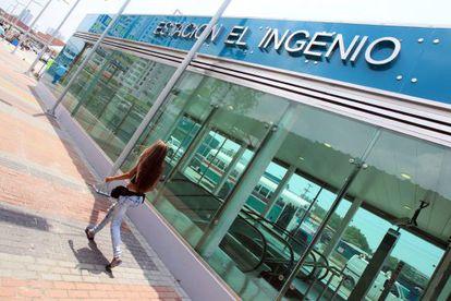 Una estación de la línea 1 del Metro de Panamá en el barrio de El Ingenio.