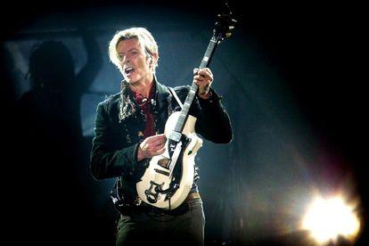David Bowie, en su A Reality Tour, de 2003.