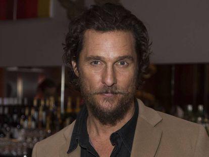 El actor Matthew McConaughey, el pasado enero en el estreno de 'Gold' en Londres.