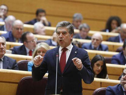 El portavoz del PP en el Senado, Ignacio Cosido, en una intervención en el pleno.