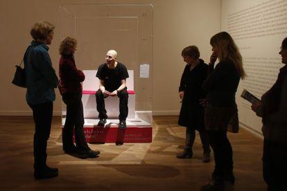 Ido Porat, uno de los 'Judíos en una vitrina', pieza de la polémica exposición del Museo Judío de Berlín.