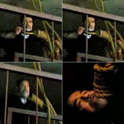 Imágenes del ahorcamiento de Sadam Husein grabadas en un vídeo con un teléfono móvil y difundidas en el portal <i>YouTube.</i>