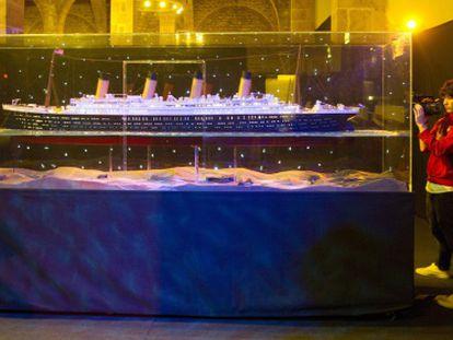 Imagen de la exposición del 'Titanic' en Barcelona.