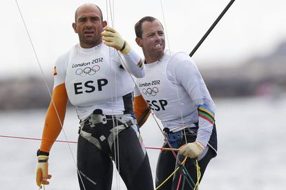 Xabi Fernández e Iker Martínez, en la última regata