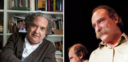Ricardo Piglia, a la izquierda; Alberto Laiseca, a la derecha.