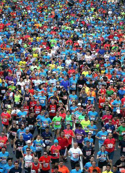 Participantes en el Maratón de Madrid de 2019