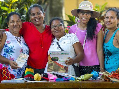 Miembros de la Red de Mujeres Rurales Norte de Bolívar, una de las zonas más golpeadas por el conflicto.