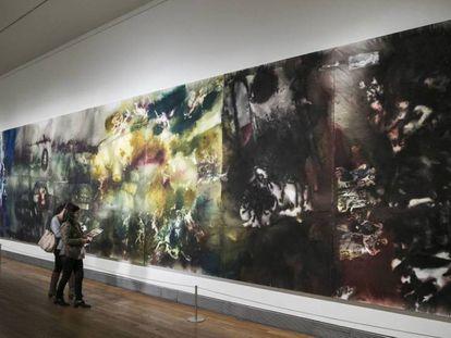 'El espiritu de la pintura', obra de Cai Guo-Qiang, en el Museo del Prado.