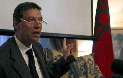Rueda de prensa de Taib Cherkaui tras su reunión con Rubalcaba.
