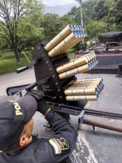 El arma en una fotografía de redes sociales.