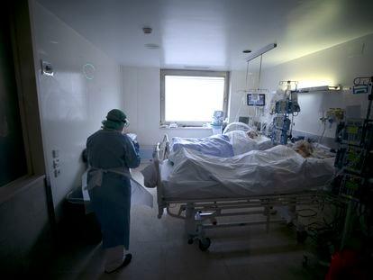 Pacientes de covid en el Hospital Gregorio Marañón de Madrid el pasado mes de julio.
