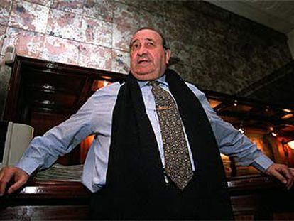 Jesús Gil, ayer en el Club Financiero de Madrid tras conocer la sentencia.
