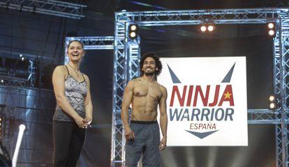 Dos participantes del primer programa 'Ninja Warrior España'.