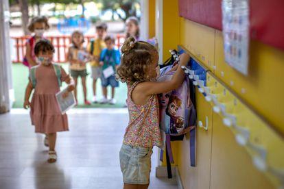 Una clase de infantil en Valencia, este mes de septiembre.