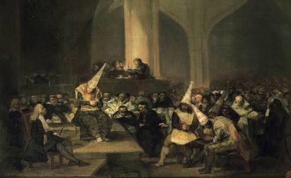 'Escena de inquisición', de Goya.