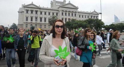 Marcha prolegalización el mayo pasado en Uruguay.