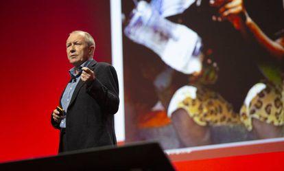 El divulgador David Price, que esta semana dio la conferencia principal en el salón sobre los retos de educación Canvascon en Barcelona.