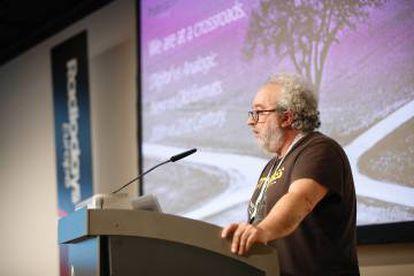 Chusé Fernández en la presentación de 'Híbridos Sonoros'.