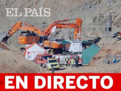 El equipo de rescate ha excavado menos de la mitad de los 3,8 metros que tienen que horadar para llegar al pequeño Julen, realizando tres microvoladuras según el último balance