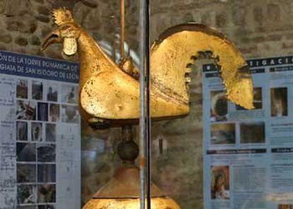 El gallo original de la colegiata de San Isidoro.