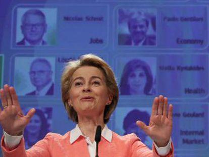 La jefa de la Comisión Europea entrega Economía al comisario italiano y mantiene a Vestager en Competencia