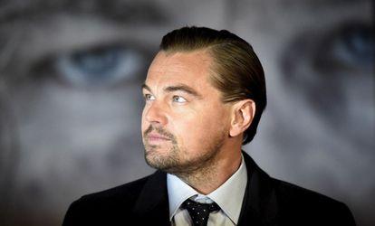 El actor Leonardo DiCaprio, en el estreno de 'El Renacido'
