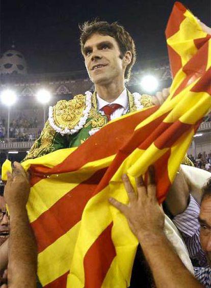 José Tomás en una imagen de archivo tomada tras una corrida en Barcelona